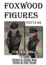 Foxwood Figure 1/16 BUST ww2 UFFICIALE TEDESCO 12th DIVISIONE SS Kit di resina 1944-45