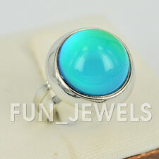 Trendy Round Dome Shape Mood Ring Multi Colored Change Retro Free Color Chart