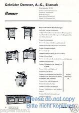 Demmer Herd Eisenach Reklame von 1935 Haushalt Küche Werbung Ofen Großküche ad