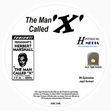 THE MAN CALLED X - 99 Shows - Old Time Radio In MP3 Format OTR On 2 CDs