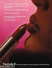 PUBLICITE ADVERTISING 055  1977  REVLON maquillage rouge à lèvres FORMULA 2