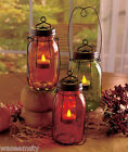 Country Rustic Star Mason Jar Lantern Votive Candle Tealight Holder Accent Decor