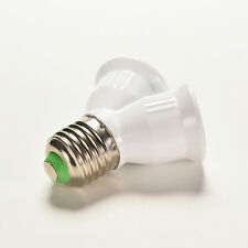Screw E27 LED Base Light Lamp Bulb Socket 1 to 2 Splitter Adapter Converter HU