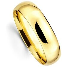 Mens Women Solid 14K Yellow Gold Plain Wedding Ring Band Comfort Fit 6MM Size 6