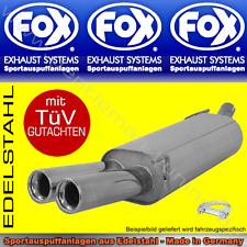 FOX SPORTAUSPUFF Porsche Boxster 986 ab 1999 2x80 2.7l 3.2l