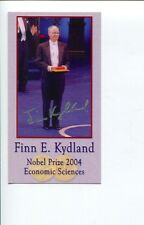 Finn Kydland Nobel Prize Economics Winner Signed Autograph Photo