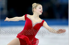 2016 New red Ice Figure Skating Dress  Baton Twirling Dress  For Competitio 176