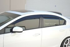 HIC USA 2012 to 2015 Civic 4dr sedan side window visor + rear roof visor spoiler