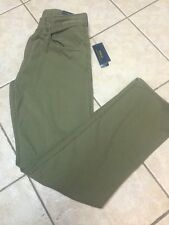 Polo Ralph Lauren Straight Fit Flat Front Chino Pants 42 x 32 Mtn Green NWT $89
