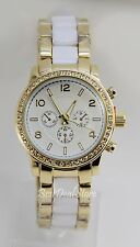 New Designer Genevag Gold-tone White Plastic Band Women Quartz Watch 6364