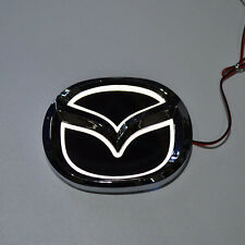 LED 5d White Logo Badge Emblem Light for Mazda 3 5 6 cx-7 10.1х7.9cm 4x3.1in
