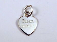 Sterling Silver HEART Charm  with FREE ENGRAVING! -2657