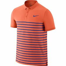 Nike Mens Advantage Dri-FIT Cool Tennis Polo Shirt Hot Lava/Persian Violet New S