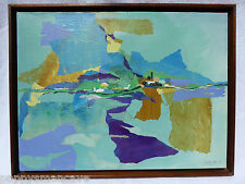 "ORIGINAL SIGNED HELEN  DUMOND (1872-1968 )""BLUE MOUNTAIN TRAIL"" COLLAGE"