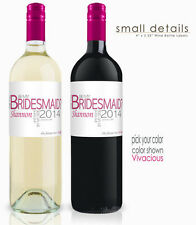 Personalized Wedding Wine bottle Label - Will You Be My Bridesmaid?