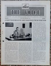 India THE VOICE January 1962 HMV Magazine - Vice President Dr. S. Radhakrishnan