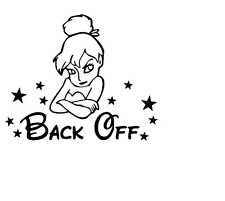 back off girl vinyl car sticker, decal, window oracal 651