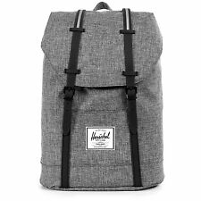 NEW NWD HERSCHEL SUPPLY COMPANY RAVEN CROSSHATCH RETREAT BACKPACK 19.5L LAPTOP