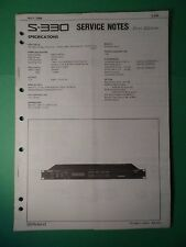Original ROLAND Service Notes- S-330 Digital Sampler Rack Mount *Used*