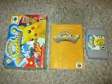 Hey You, Pikachu (Nintendo 64 n64, 2000) Complete in Box GOOD