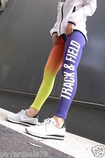 WOMEN'S SIZE LARGE NIKE LEGGINGS TRACK AND FIELD PANTS 653963 612 SPORT CASUAL