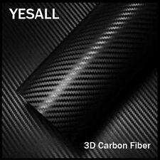 """Luxury 3D Carbon Fiber Vinyl Wrap Film Sticker DIY Decals Bubble Free 12""""x60"""""""
