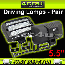"12v Car Van 4x4 5.5"" Rectangular Driving Halogen Spot Lamps Lights With Grills"