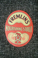 A FREMLINS NOURISING STOUT BEER BOTTLE LABEL