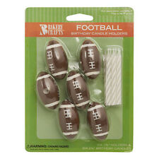 Football Cake Candle Holders Toppers Party Supplies decorations Sports