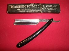 Vintage W.H. Morley & Sons Clover Cutlery German Straight Razor Knife