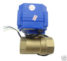 "motorized ball valve, 220v, 2 way,G3/4"" DN20 (reduce port), electrical valve"
