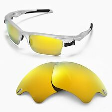 WL Polarized 24K Gold Replacement Lenses For Oakley Fast Jacket XL Sunglasses