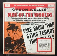 Authentic First Edition Orson Welles' War of The Worlds LP Vinyl Record Stereo