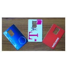 Mini SIM Card to Standard (Credit Card) Size SIM Card Converter/Adapter BOGOF