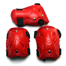 Kids Roller Skating Bicycle Sports Knee Elbow Wrist Protective Guard Pad Red