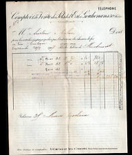 GOUHENANS (70) COMPTOIR de Vente de SELS / SALINE de MONTMOROT (39 Jura) en 1907