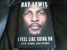 RAY LEWIS SIGNED - I FEEL LIKE GOING ON - LIMITED HARDCOVER NFL BALTIMORE RAVENS