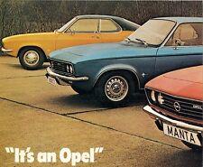 Opel Kadett B GT Manta A Rekord C Commodore A 1970-71 UK Market Foldout Brochure