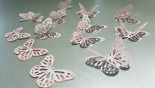 27NO Pale Pink Watercolour Roses Large 3D Paper Butterflies Wedding, Card making