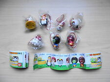 Lot of 7 Gashapon BANDAI Keroro Gunso Sergeant Frog Mini Fiugre Strap