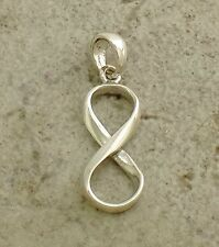 CUTE .925 STERLING SILVER HIGH POLISH INFINITY PENDANT  style# p0821