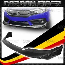 Glossy Real Carbon Fiber Front Bumper Lip Modulo Body Kit For 16-17 Honda Civic
