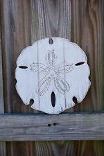 """Sand Dollar Beach Salt Life Tiki bar Ocean Sea Nautical Decor Wood Carved 10"""""""