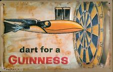 GUINNESS,/ DARTS, EMBOSSED(3D) METAL ADVERTISING SIGN 30X20cm PUB/ IRISH BAR