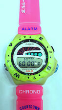 Casio Vintage 1990 nuovo,crono,Surfing timer,luce,sub100mt,mod.SUF 110,