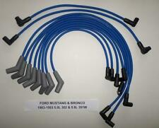 FORD MUSTANG & BRONCO 1983-1993 5.0L/302, 5.8L/351W Hi-Per Blue Spark Plug Wires