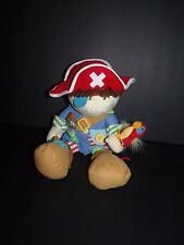 Manhattan Toy Boy Pirate Activity Doll Rattle Plush Patchwork Parrot 14""