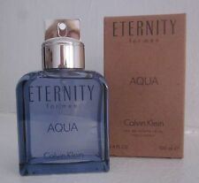 $99 NEW Calvin Klein ETERNITY FOR MEN AQUA Eau de Toilette 3.4oz EDT Tester +Box