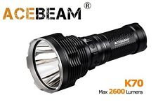 New AceBeam K70 Cree XHP35 HI 2600 Lumens LED Flashlight ( 1300M ) - Black