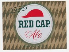 Carling Red Cap Ale Beer Label